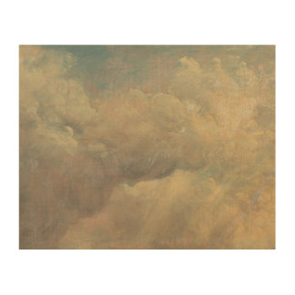 John Constable - de Studie van de Wolk Hout Afdruk