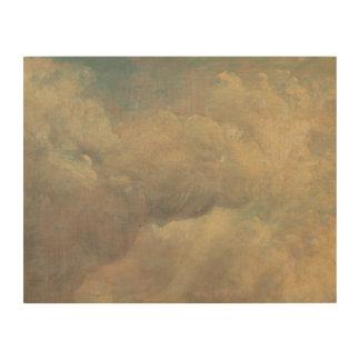 John Constable - de Studie van de Wolk Hout Prints