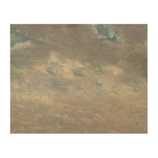John Constable - de Studie van de Wolk Houten Canvas Print