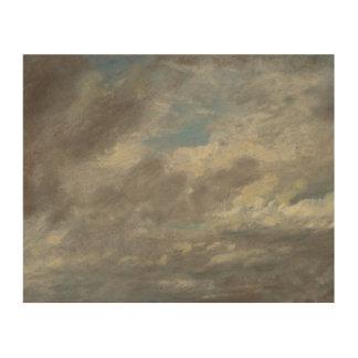 John Constable - de Studie van de Wolk Houten Canvas Prints