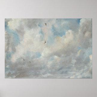 John Constable - de Studie van de Wolk Poster
