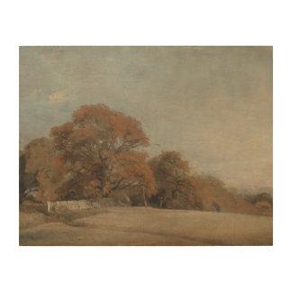 John Constable - een HerfstLandschap Hout Afdrukken