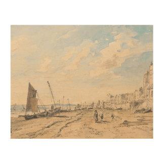 John Constable - het Strand die van Brighton het Hout Afdruk