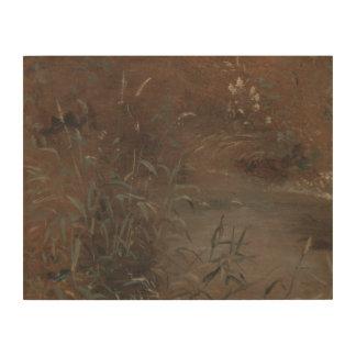 John Constable - Stormlopen door een Pool Hout Print