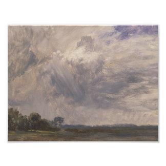 John Constable - Studie van een Bewolkte Hemel Foto