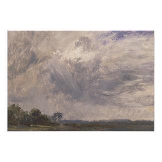 John Constable - Studie van een Bewolkte Hemel Foto Afdrukken