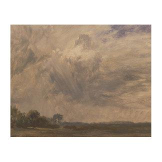 John Constable - Studie van een Bewolkte Hemel Hout Prints
