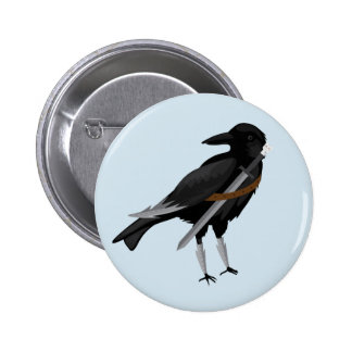 John Crow Knows Nothing Ronde Button 5,7 Cm