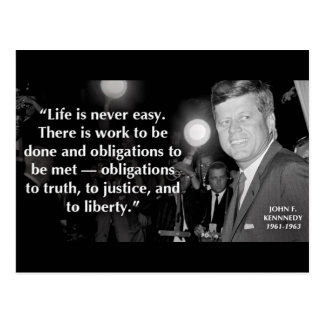John F Kennedy de Motivatie Citaten van het Leven Briefkaart