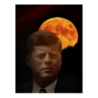 John F. Kennedy en de rode Maan Briefkaart