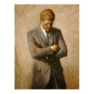 John F Kennedy Officieel Portret door Aaron Briefkaart