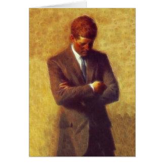 John F Kennedy van het president Fractal het Wenskaart