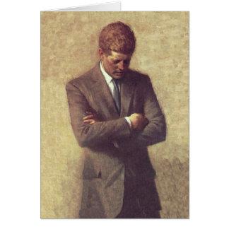 John F Kennedy van het president Officieel Portret Wenskaart