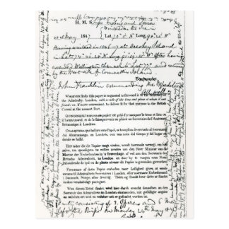John Franklin's Bericht Briefkaart