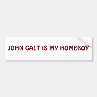 JOHN GALT IS MIJN HOMEBOY BUMPERSTICKER