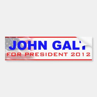 John Galt voor President 2012 Bumpersticker