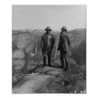 John Muir en Teddy Roosevelt Poster