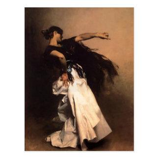 John Sargent-Spanish Dancer, studie voor 'Gr Jaleo Briefkaart