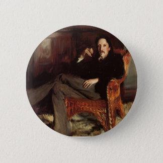 John Singer Sargent- Robert Louis Stevenson Ronde Button 5,7 Cm