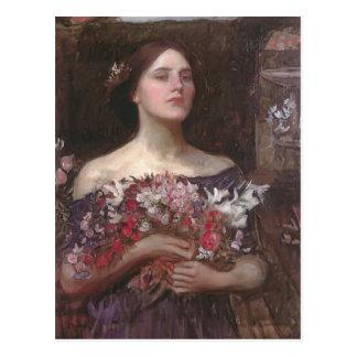 John Waterhouse- Gather Ye Rosebuds of Ophelia Briefkaart