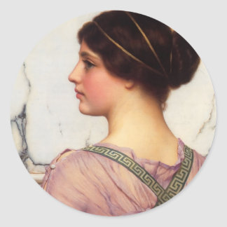 John William Godward- A Mooi Grecian Ronde Sticker