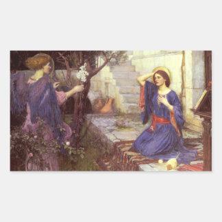 John William Waterhouse - de Aankondiging Rechthoekige Sticker