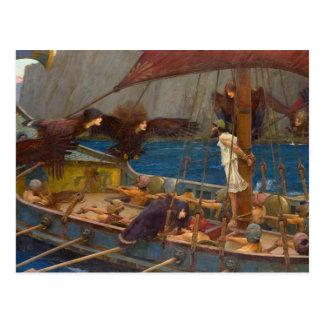 John William Waterhouse - Ulysses en de Sirenes Briefkaart