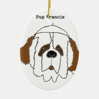 Jong Francis voor Kleine Punten Keramisch Ovaal Ornament