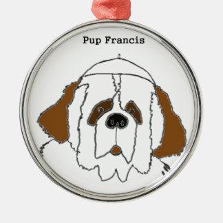 Jong Francis voor Kleine Punten Zilverkleurig Rond Ornament