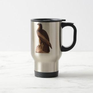 Jong Kaal Eagle van Audubon op Bruine Rots Reisbeker
