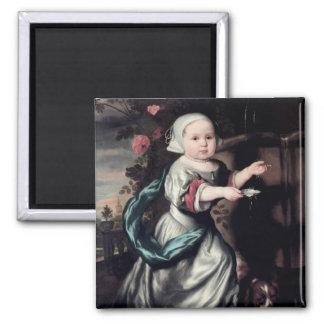 Jong meisje bij een fontein, 1662 magneet