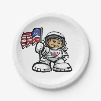 Jonge Astronaut in ruimte Papieren Bordje