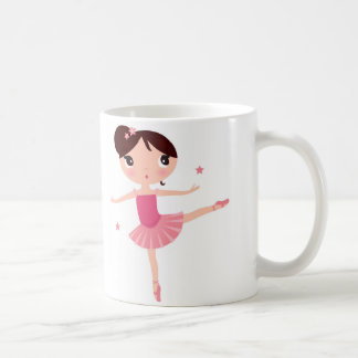 Jonge Balletdanser in de Roze Mok van de Koffie