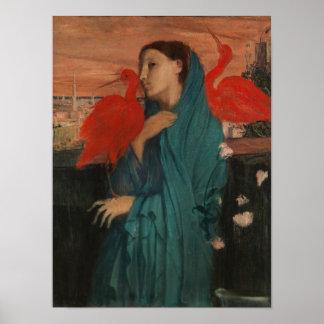 Jonge Vrouw met Ibis Poster
