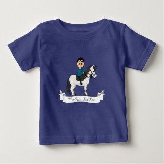 Jongen die een paardcartoon berijdt baby t shirts