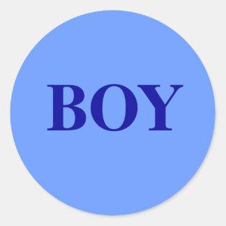Jongen - het Geslacht van het Baby openbaart de Ronde Sticker