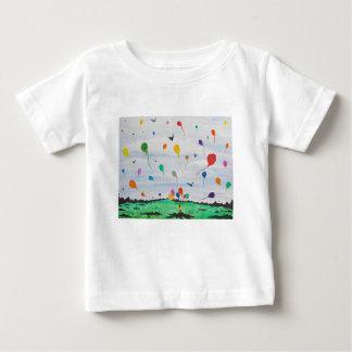 Jongen met de ballons baby t shirts