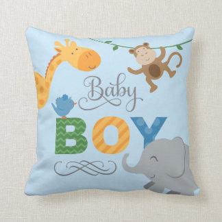 Jongen | van het baby de Dieren van het Oerwoud Sierkussen