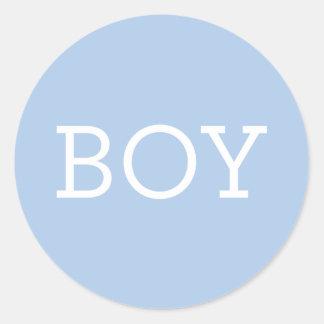 Jongen | van het baby Geslacht openbaart de Ronde Sticker