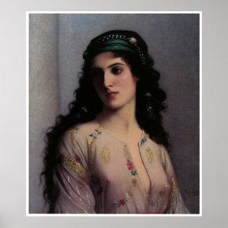Joods Meisje in Tanger, Charles Landelle Poster