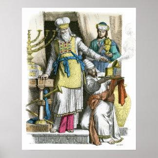 Joodse Hoge Priester van vóór de tijd van Christus Poster
