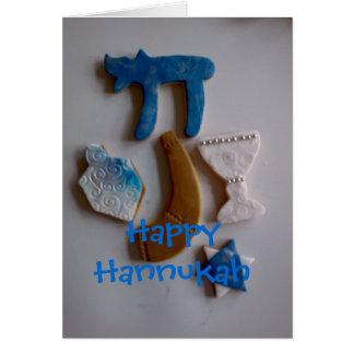 Joodse vakantiekoekjes, Gelukkige Hannukah Kaart