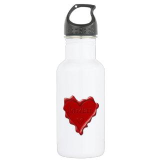 Jordanië. De rode verbinding van de hartwas met Waterfles