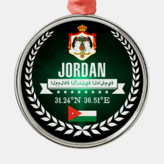 Jordanië Zilverkleurig Rond Ornament