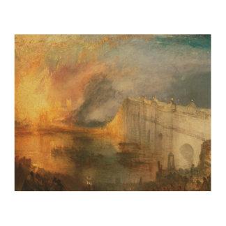 Joseph Mallord William Turner - Het Branden van Hout Afdruk