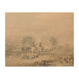 Joseph Mallord William Turner - het Zaaien van de Houten Canvas Prints