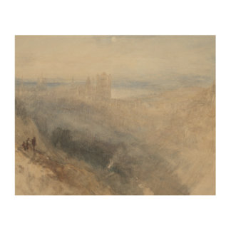 Joseph Mallord William Turner - Maan over Lausanne Foto Op Hout