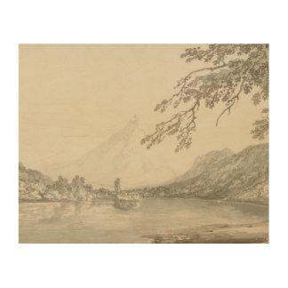 Joseph Mallord William Turner - op Aar tussen Hout Afdruk