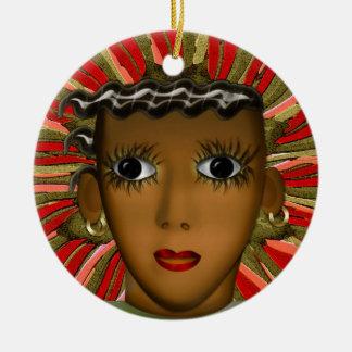 Josephine Baker in de 21ste (Gepersonaliseerde) Rond Keramisch Ornament