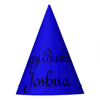 Joshua, de Gelukkige Blauwe Verjaardag GLB van de Feesthoedjes